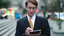 man using iPad