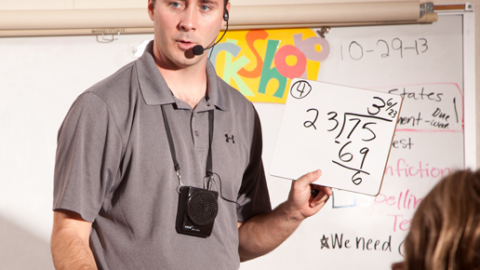 Teacher Using Speech AT