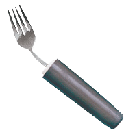 Curved Handle Utensils