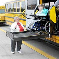 Wheelchair Lift on Bus