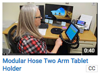 Modular Hose Two-Arm Tablet Holder
