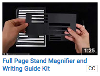 Full Page Stand Magnifier and Writing Guide Kit
