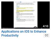IOS apps to enhance productivity